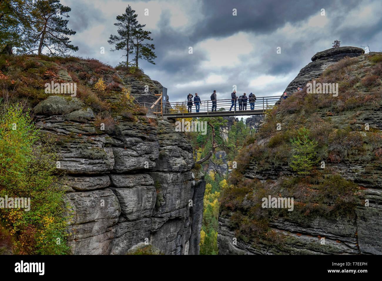 Burgruine Neurathen, Rathen, Nationalpark Saechsische Schweiz, Sachsen, Deutschland Stock Photo