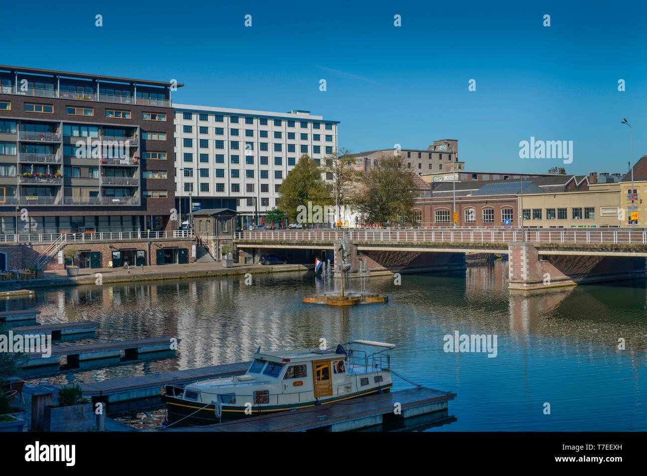 Binnenhafen Bassin, Maastricht, Niederlande - Stock Image