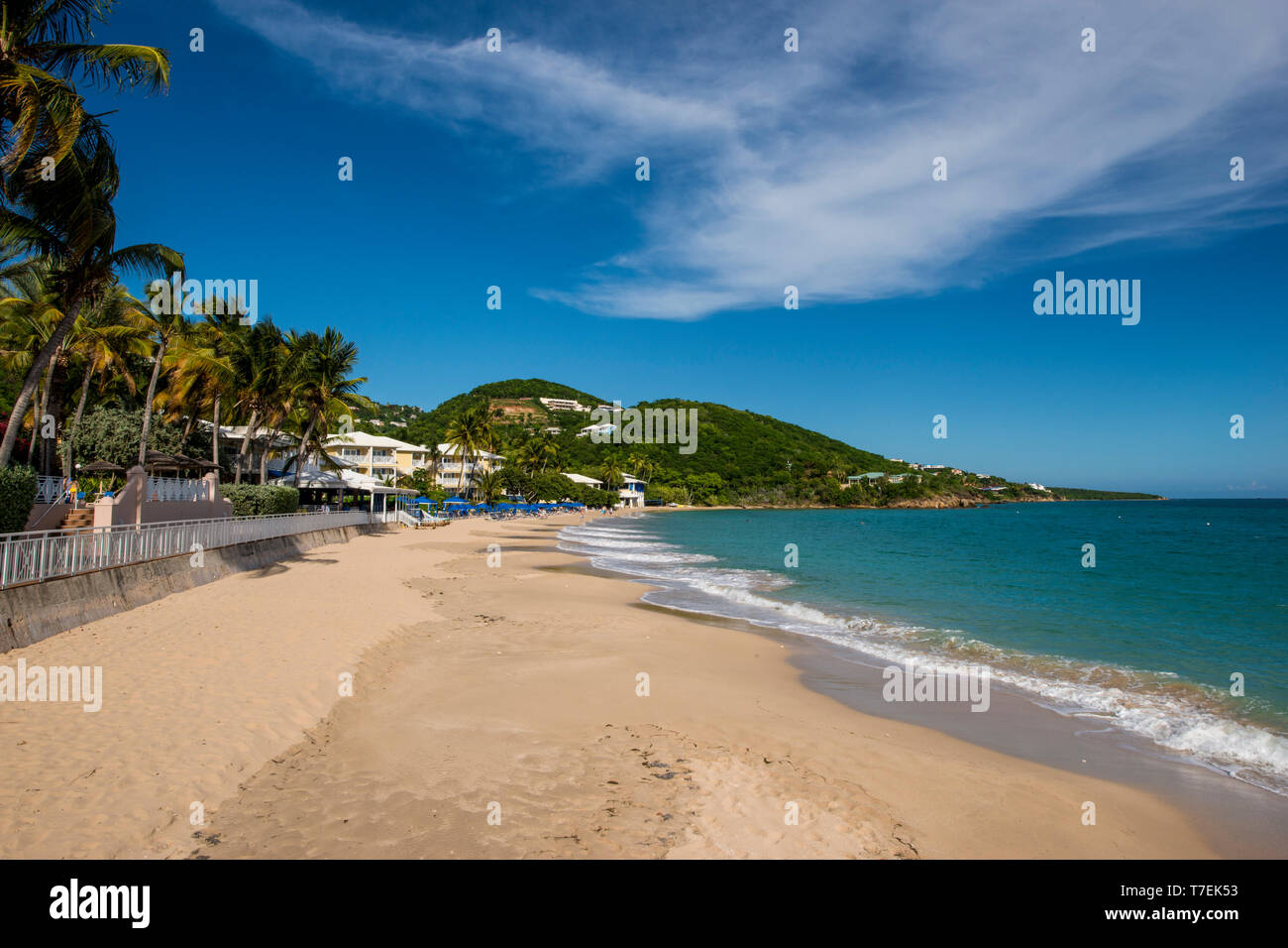 Marriott's Frenchman's Reef & Morning Star Beach Resort, Morningstar Beach, St. Thomas, US Virgin Islands. Stock Photo