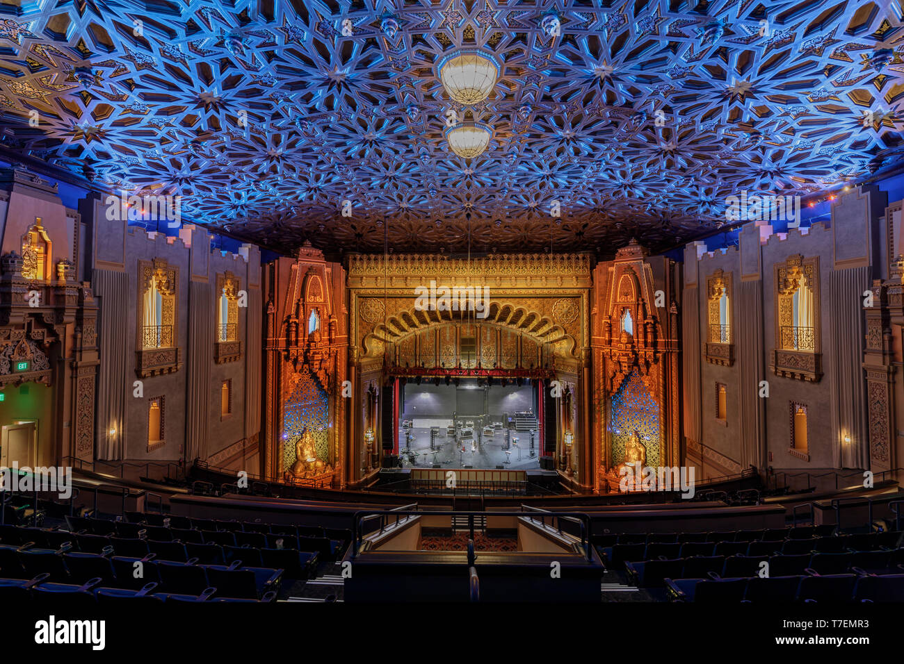 Oakland, California - May 4, 2019: Fox Oakland Theater right after a live show. - Stock Image