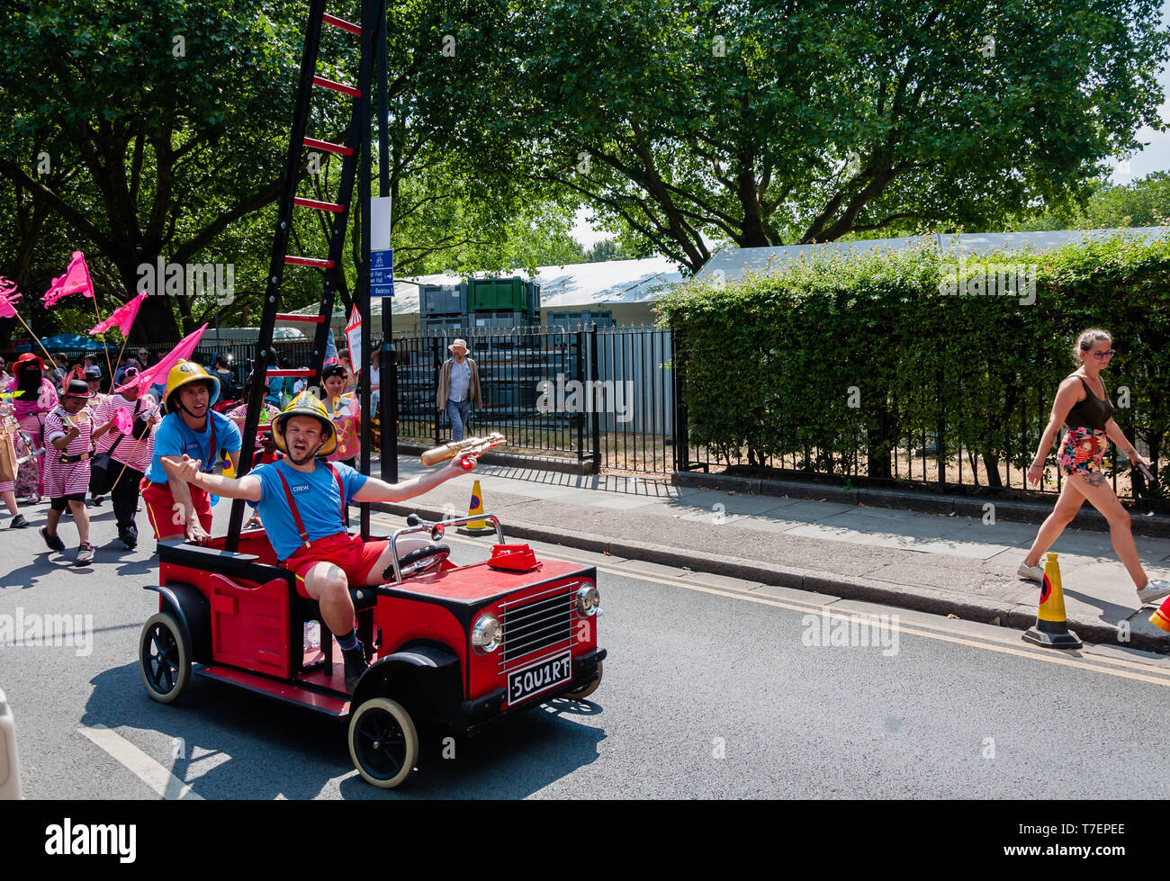 """London. UK. 7 July 2018,The Newham Carnival """"The Circus Cavalcade"""" to celebrate the 250th anniversary of the circus. - Stock Image"""