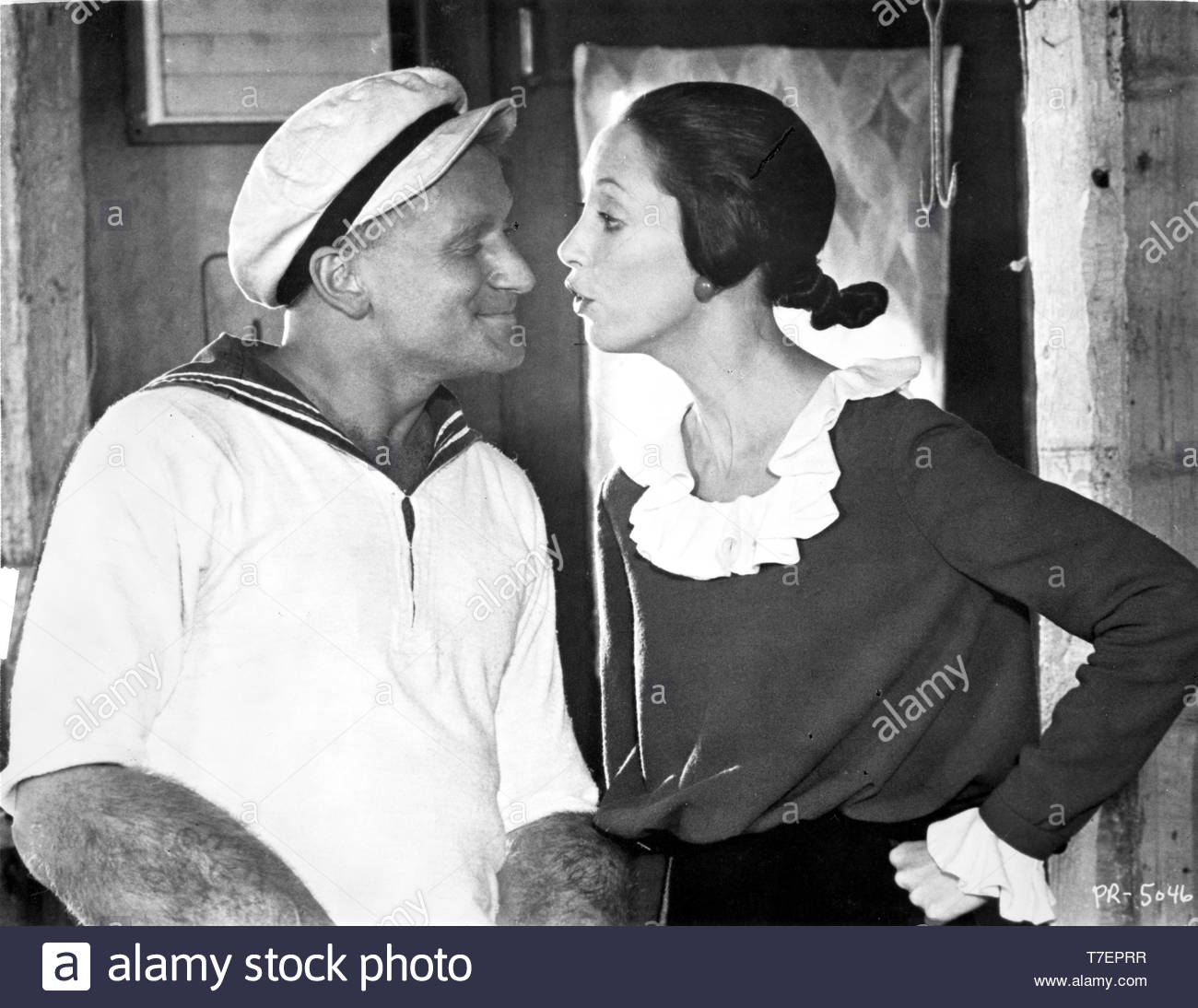 Film still from Popeye Robin Williams and Shelley Duvalle Credit: MSNGlobe / MediaPunch - Stock Image