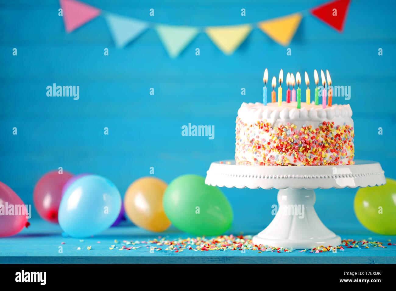 Magnificent Happy Birthday Cake Balloons Card Stock Photos Happy Birthday Personalised Birthday Cards Arneslily Jamesorg