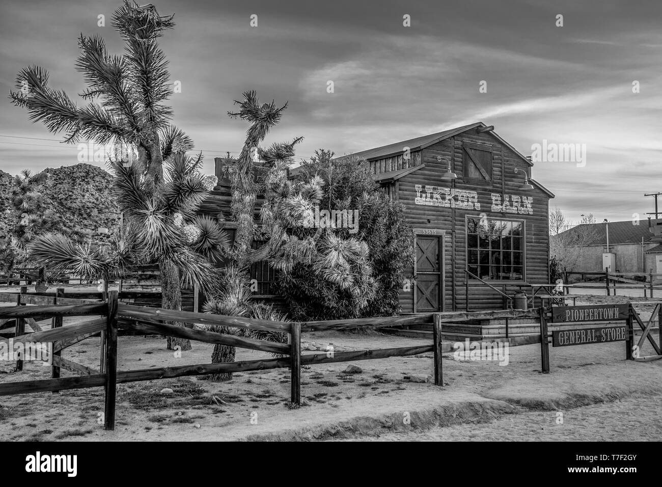 Pioneertown at the Morongo Basin in Calfornia - CALIFORNIA, USA - MARCH 18, 2019 Stock Photo
