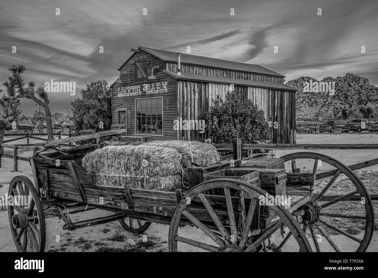 Famous Pioneertown in California in the evening - CALIFORNIA, USA - MARCH 18, 2019 Stock Photo
