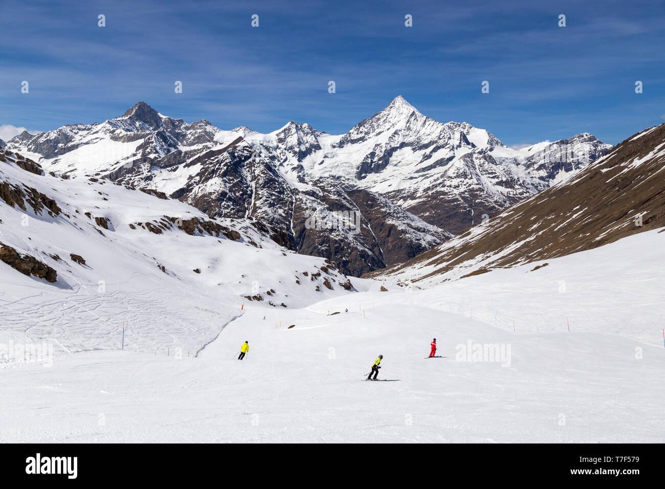 Matterhorn Skiing Area - Stock Image