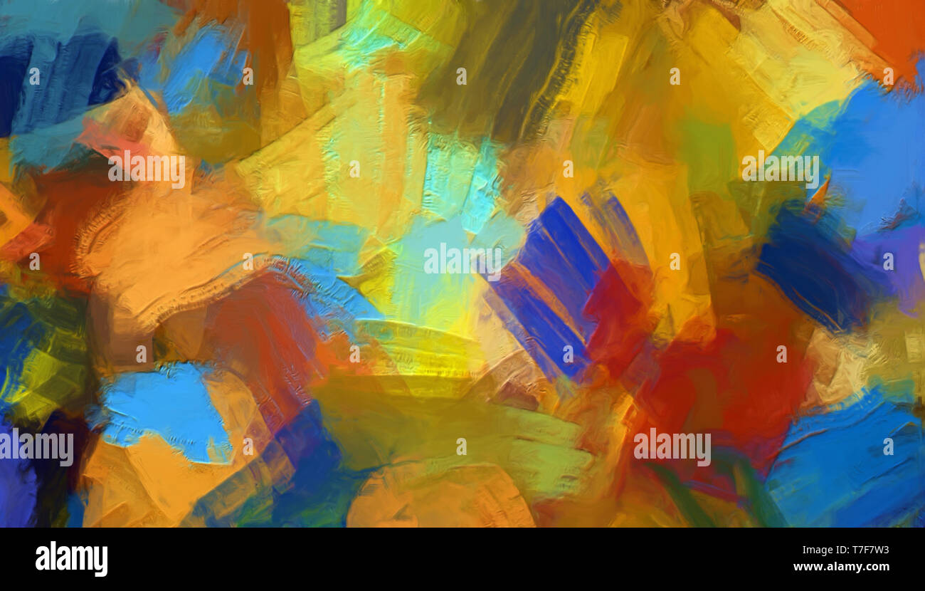 Abstract Impressionism Style Oil Painting Background Home