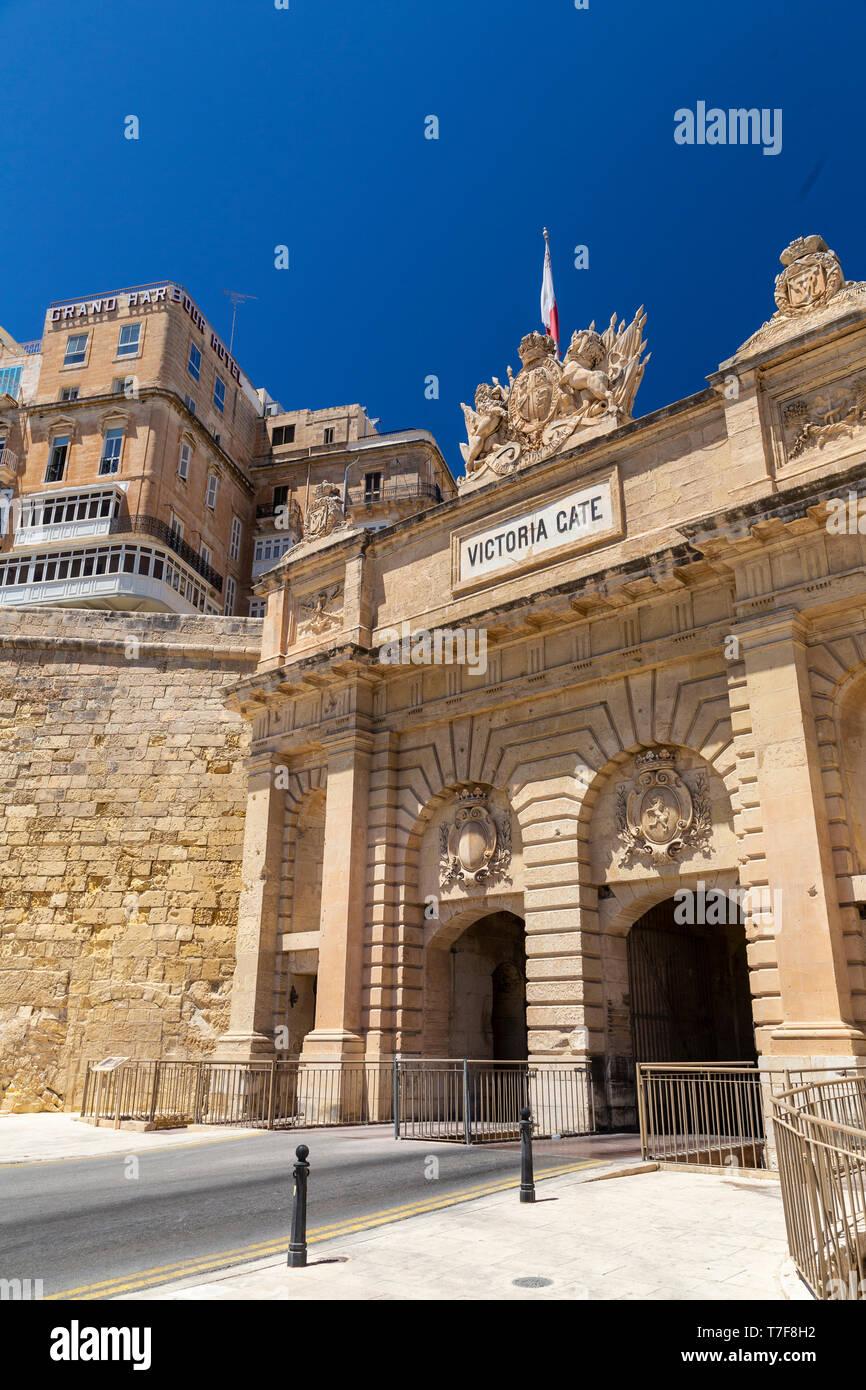 Malta, Malta, Valletta, Victoria Gate - Stock Image