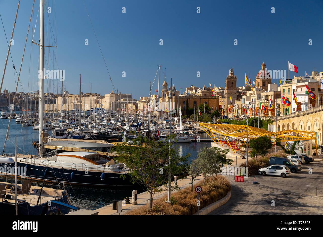 Malta, Malta, Valletta, Vittoriosa Town - Stock Image