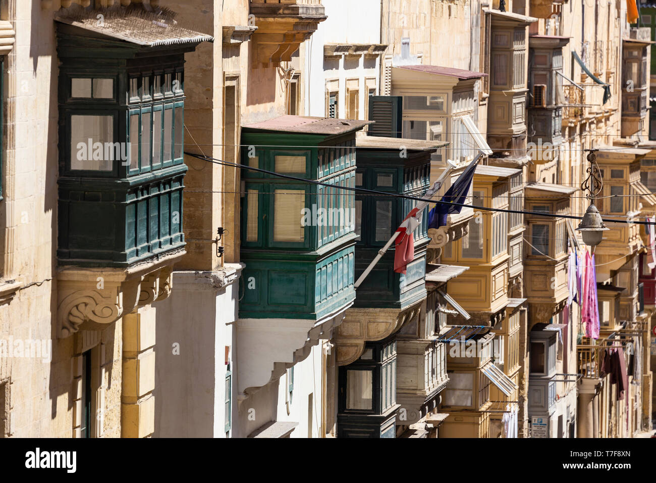 Malta, Malta, Valletta, Republic Street - Stock Image