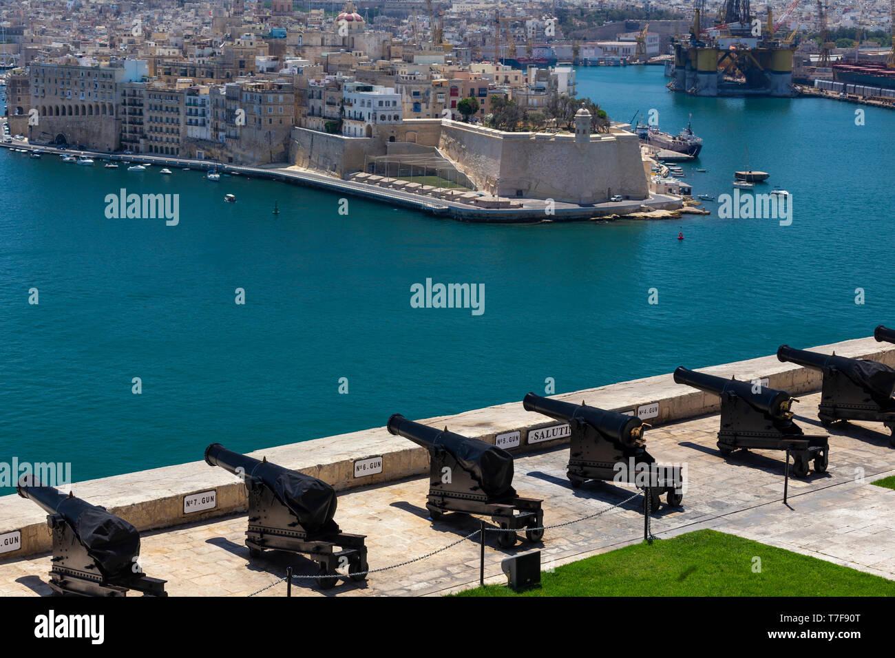 Malta, Malta, Valletta, Upper Barraka Gardens - Stock Image