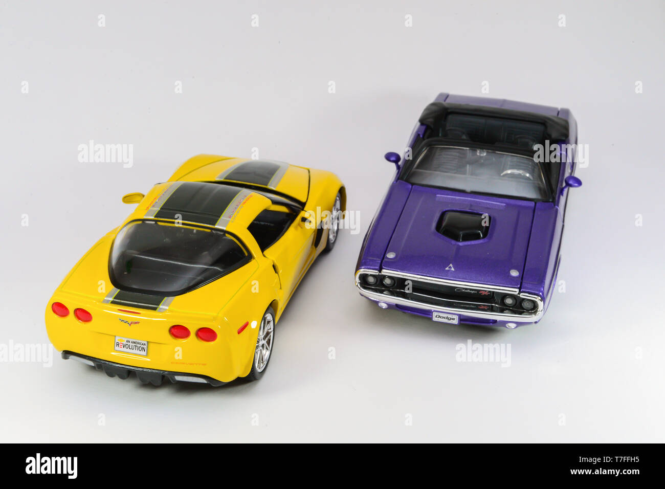 7 December 2016, Eskisehir, Turkey. Assorted diecast model cars on white isolated background Stock Photo