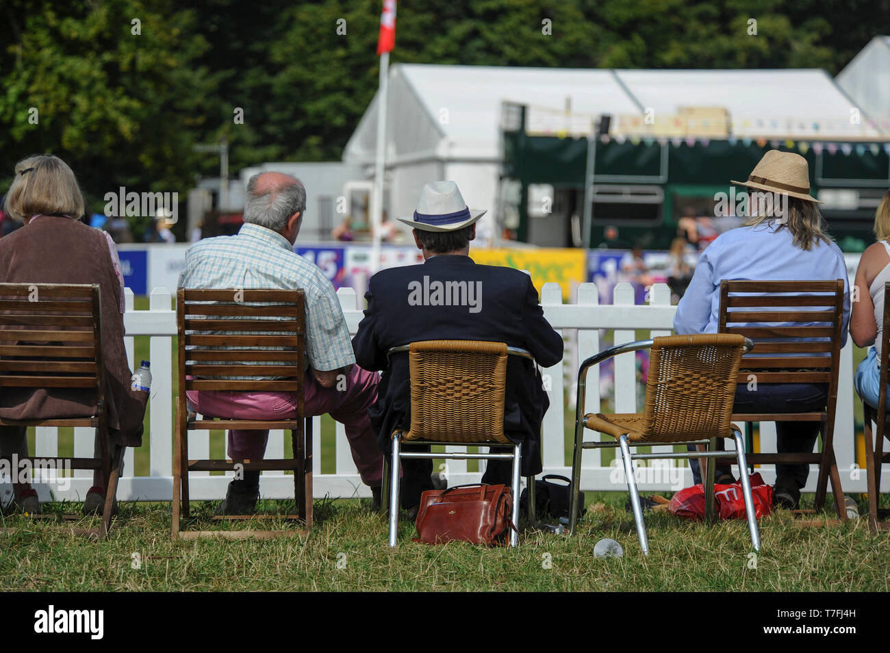 The Festival of British Eventing at Gatcombe Park 2015.  Pictured, gallery picture.  Picture by Gavin Crilly  Date 090815     by Gavin Crilly - Stock Image