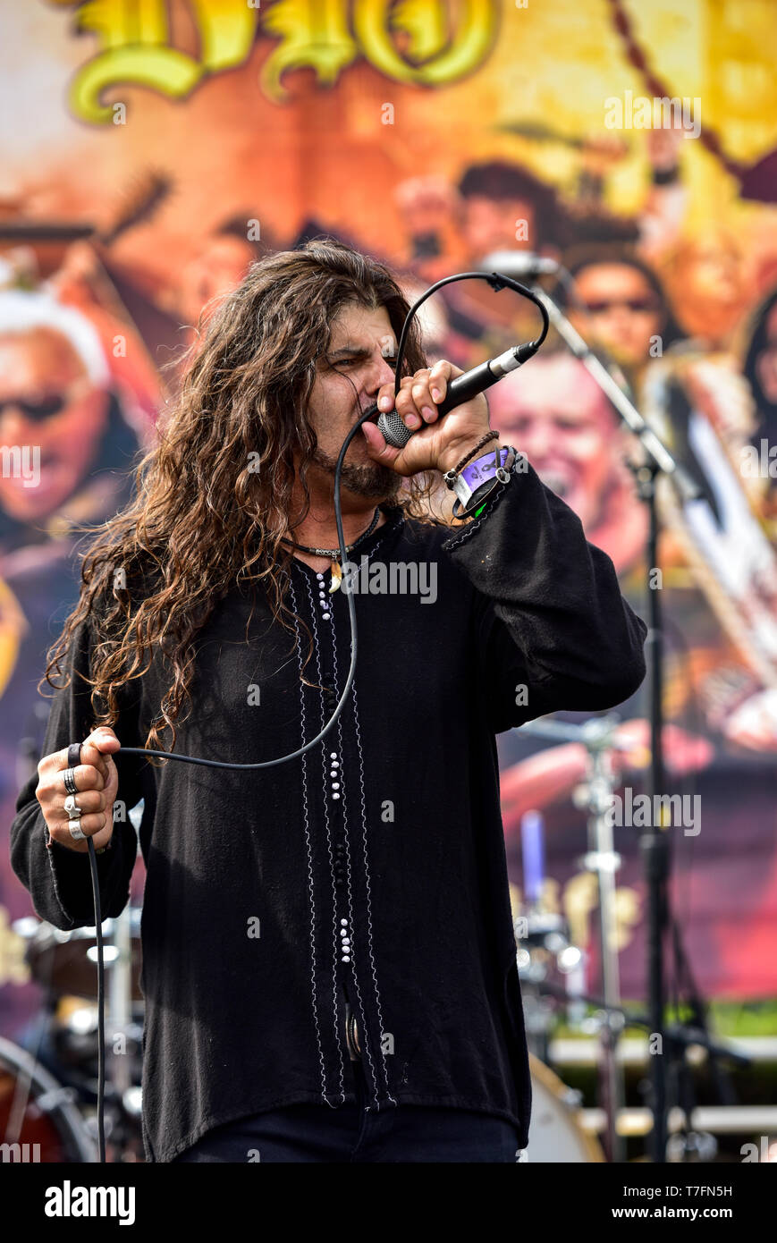 May 5, 2019, Encino, California, MICHAEL OLIVERI at the 2019 Ride for Ronnie charity concert at Los Encinos State Historic Park. Stock Photo