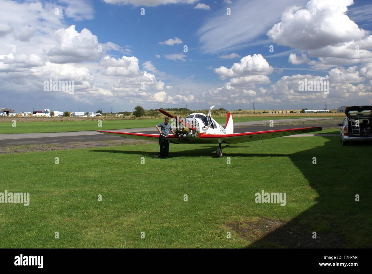 Breighton Aerodrome, yorkshire - Stock Image