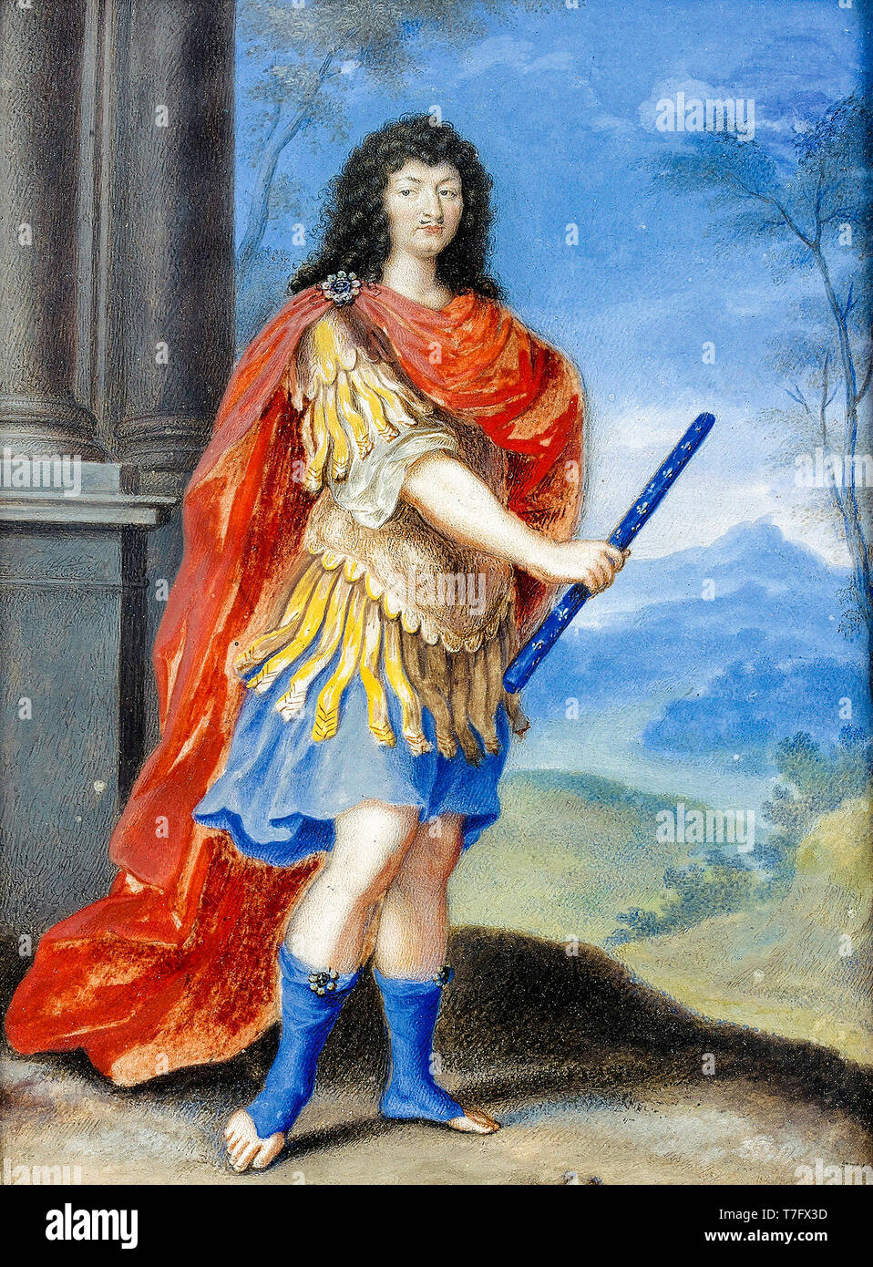 Portrait of Louis XIV dressed as Alexander the Great, unknown artist, 17th Century - Stock Image