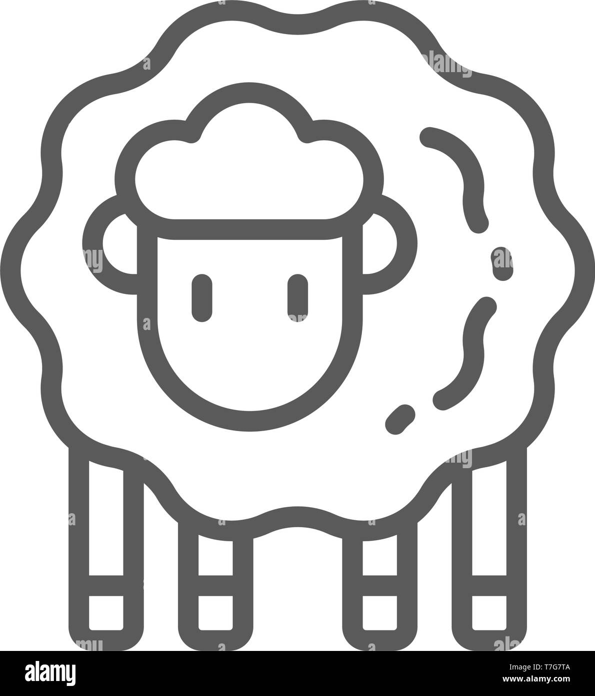 Lamb, sheep line icon. Stock Vector