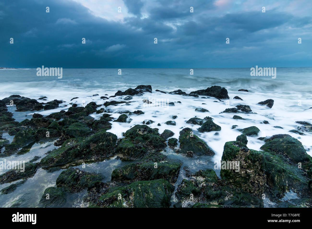 Rocky Coast On Wadden Island Sylt Germany Stock Photo 245605682