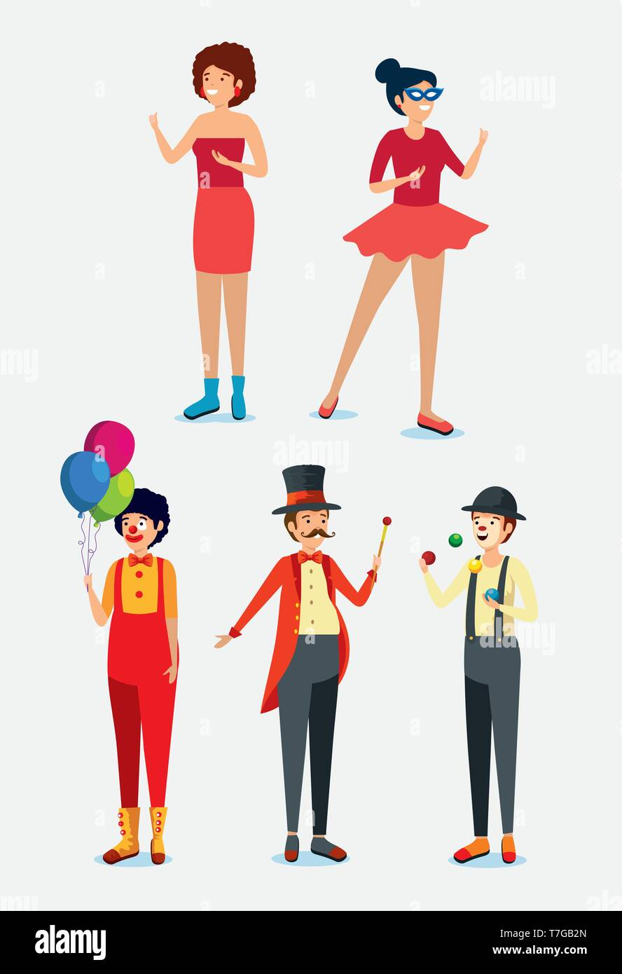 set women and men with festival traditional costume - Stock Image