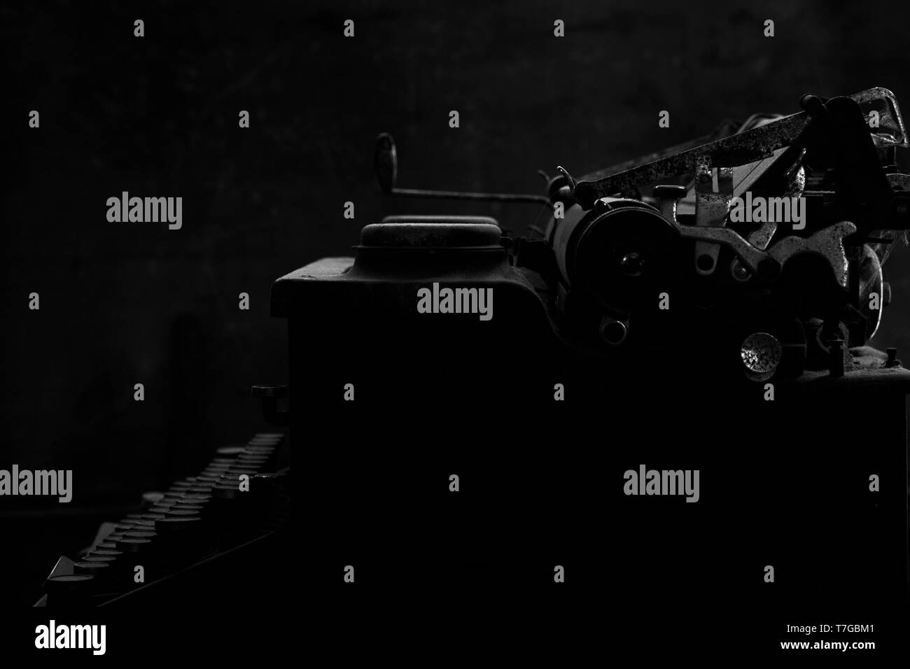 Old vintage typewriter - Stock Image