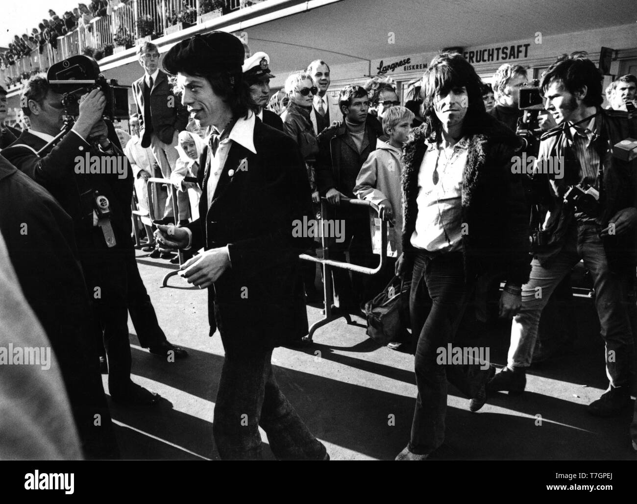1970 september 13th, Hamburg, Germany -   (Photo Gijsbert Hanekroot) *** Local Caption *** Mick Jagger, Keith Richards, Rolling Stones - Stock Image