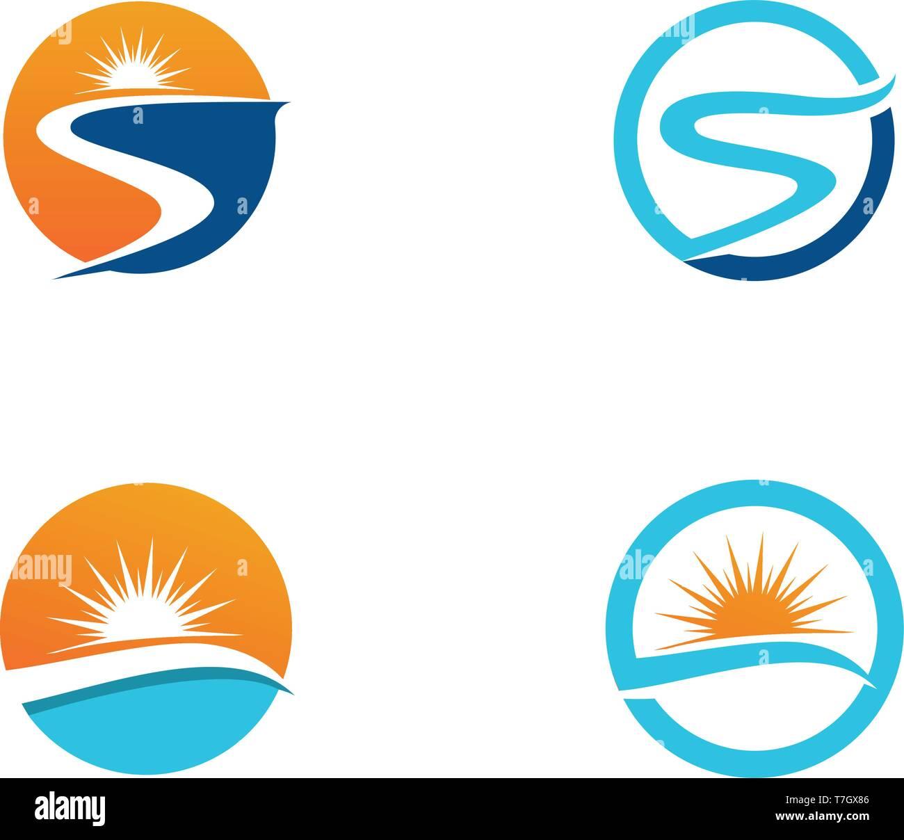 river logo template vector icon illustration app stock vector image art alamy alamy