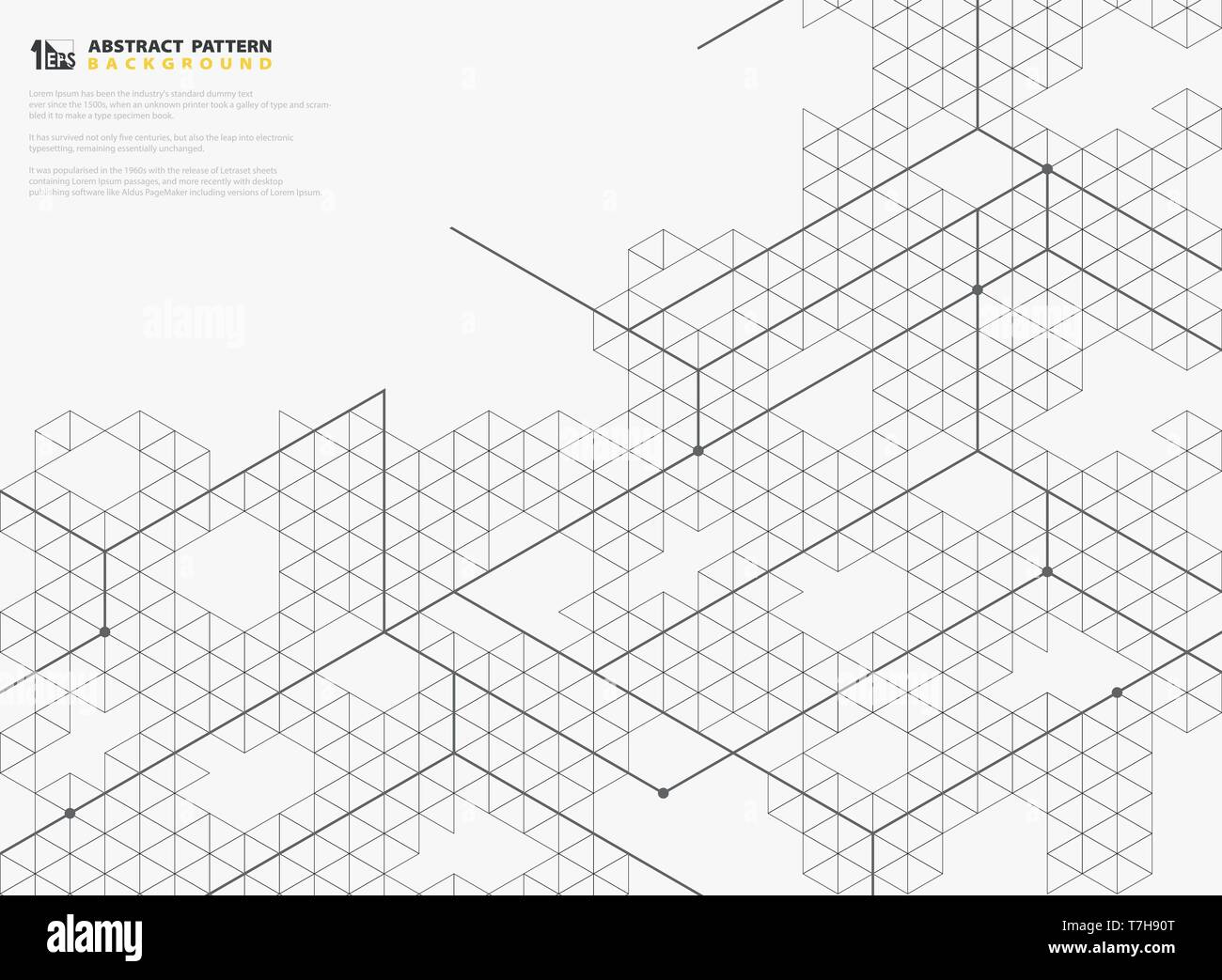 Abstract modern square line structures pattern design of geometric background. You can use for geometrical pattern cover, design artwork, ad, poster,  - Stock Image