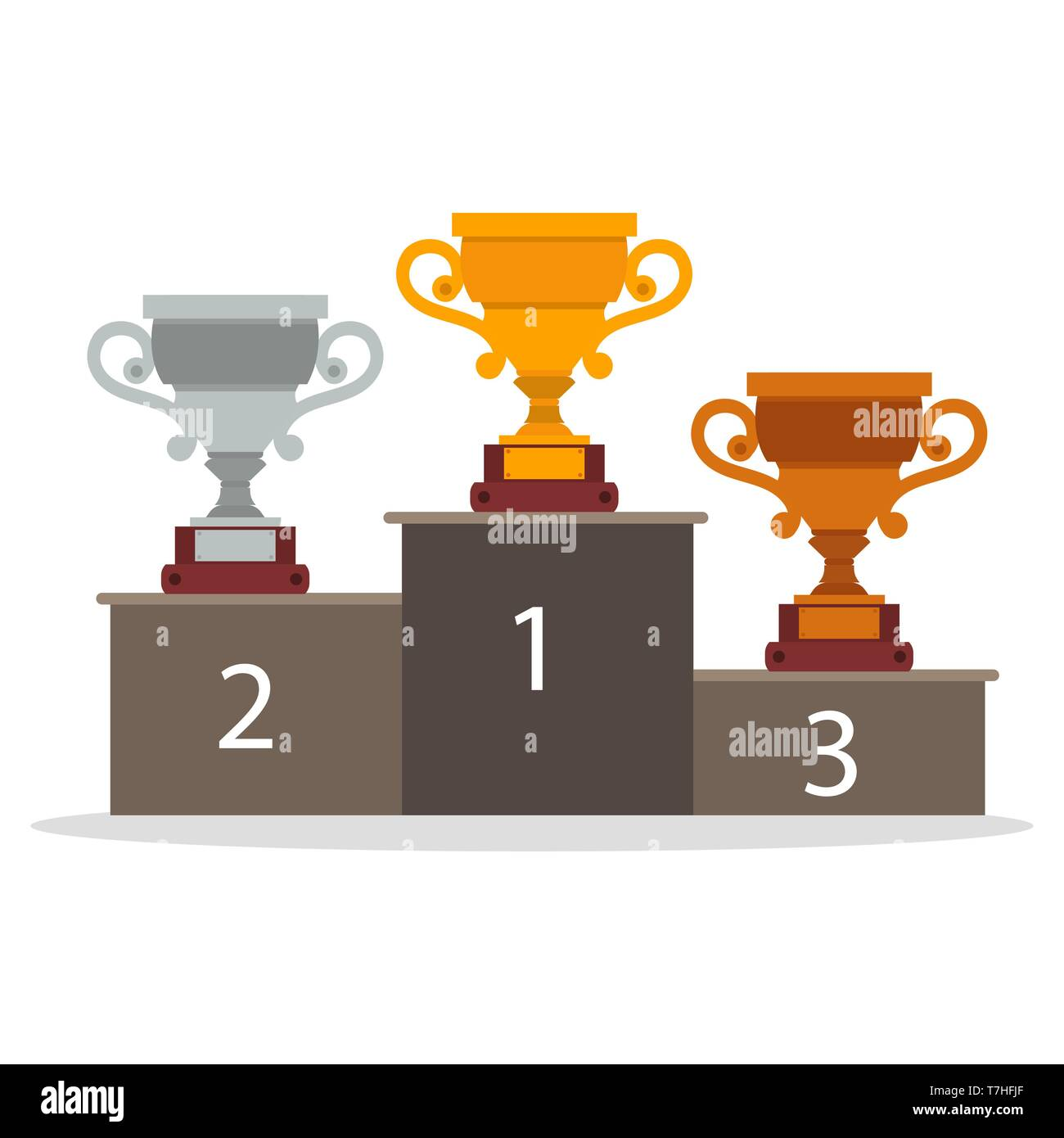 Winner cup trophy team tournament match award. World champion league prize. Sport template symbol final vector. Victory banner icon poster. Reward gra - Stock Vector