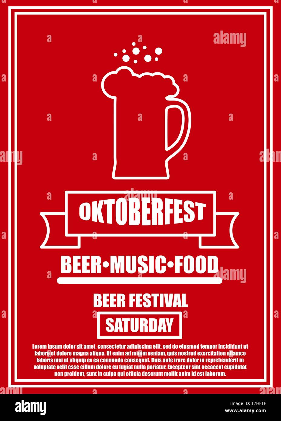 Oktoberfest Celebration Traditional Decoration Banner