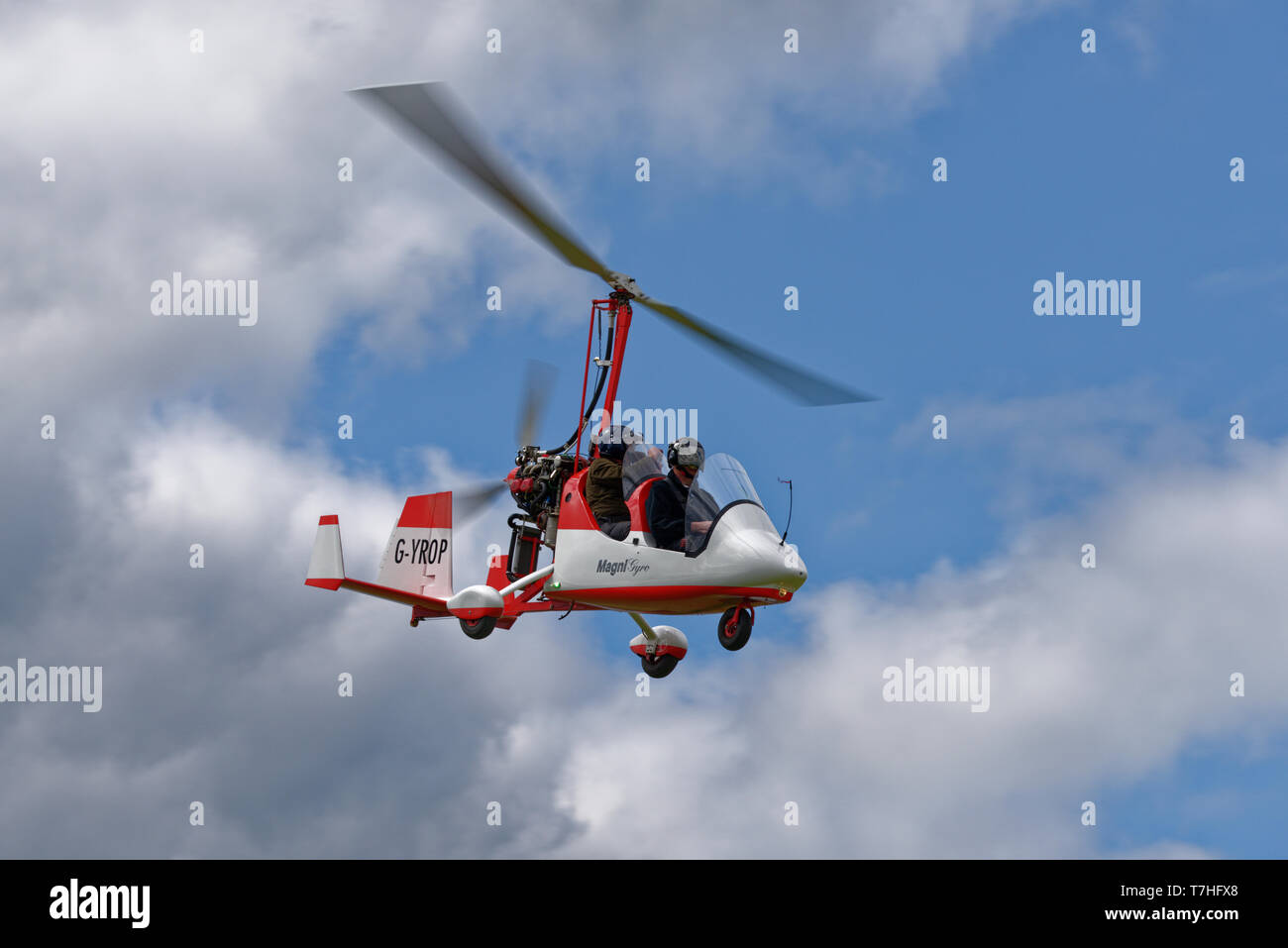 Smart looking twin seat autogyro G-YROP, a Magni M16C at the Popham Microlight Fly-In Stock Photo