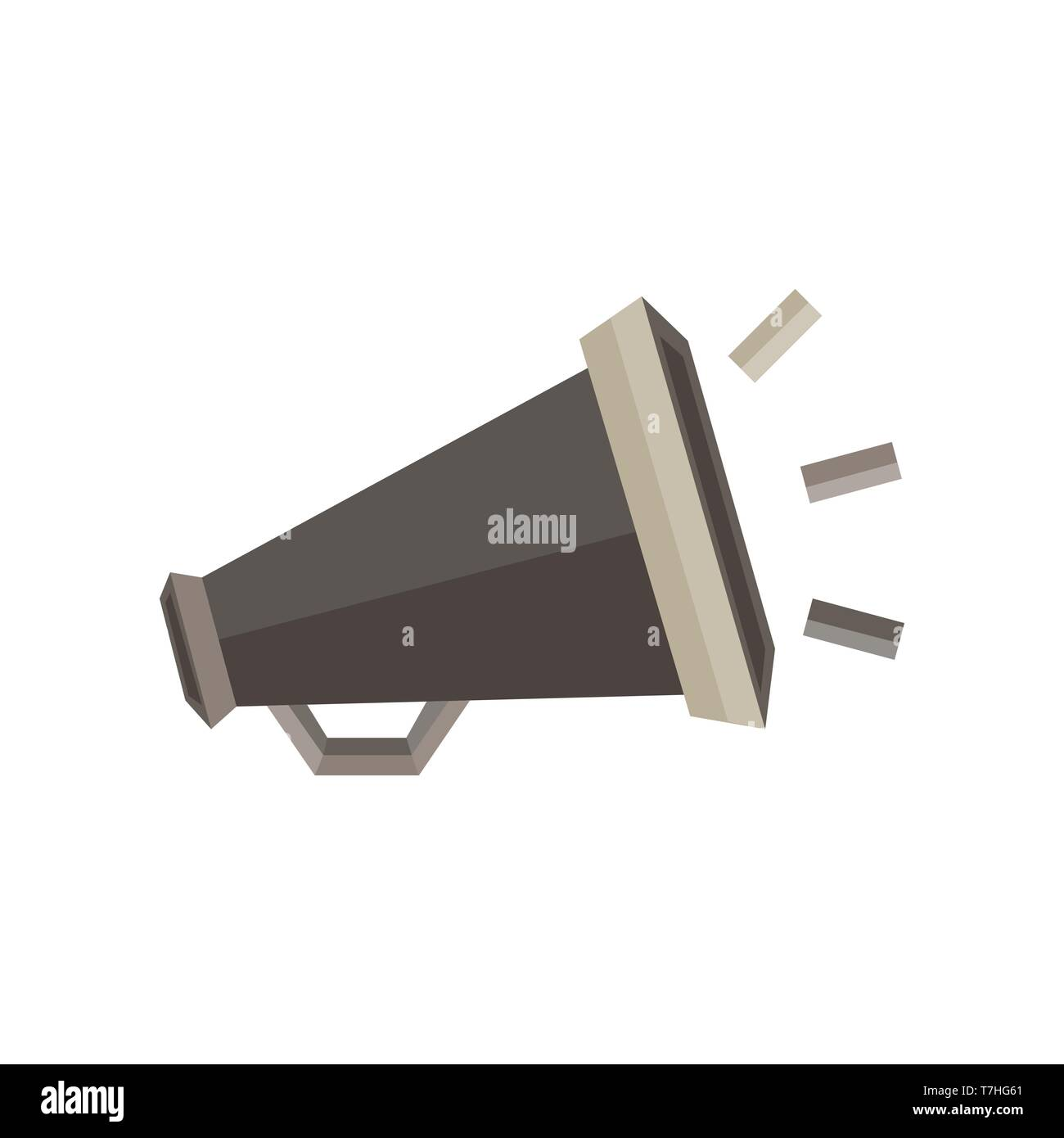 Megaphone icon vector sign illustration speaker symbol design loud - Stock Vector
