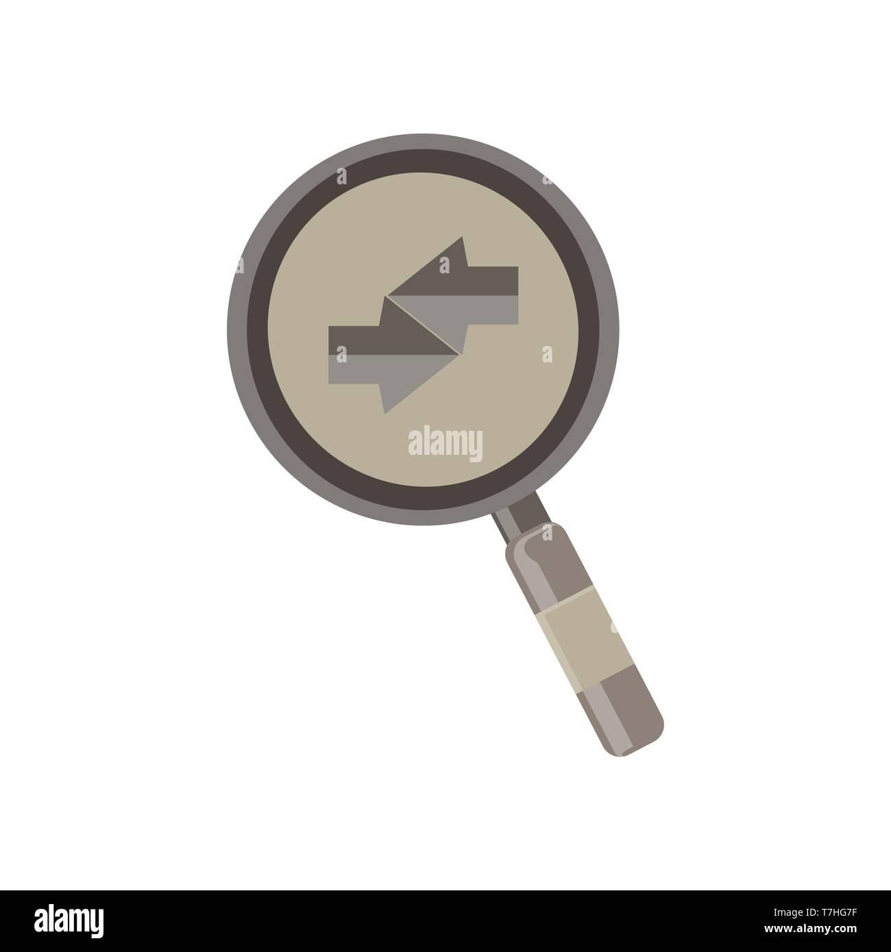 Glass magnifying icon vector search illustration isolated zoom - Stock Image