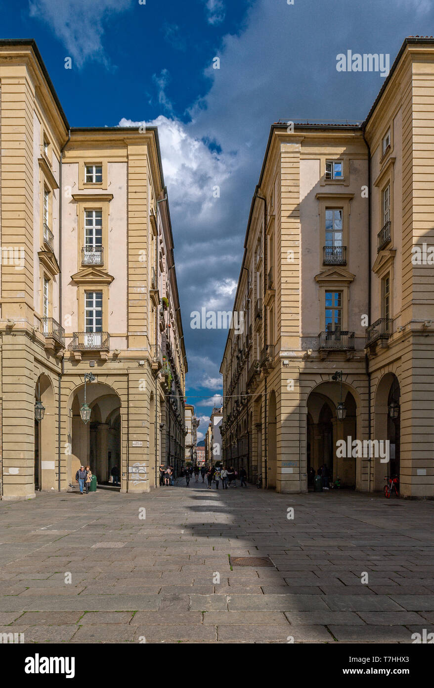 Italy Piedmont Turin Piazza Palazzo di Città e Via Palazzo di Città - Stock Image