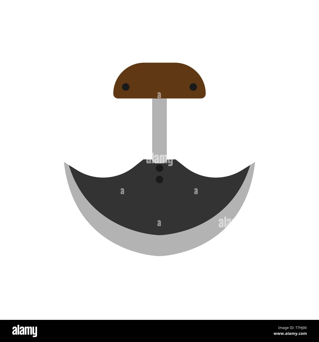 Army knife weapon equipment steel handle dagger. Soldier pocket vector tool icon - Stock Vector