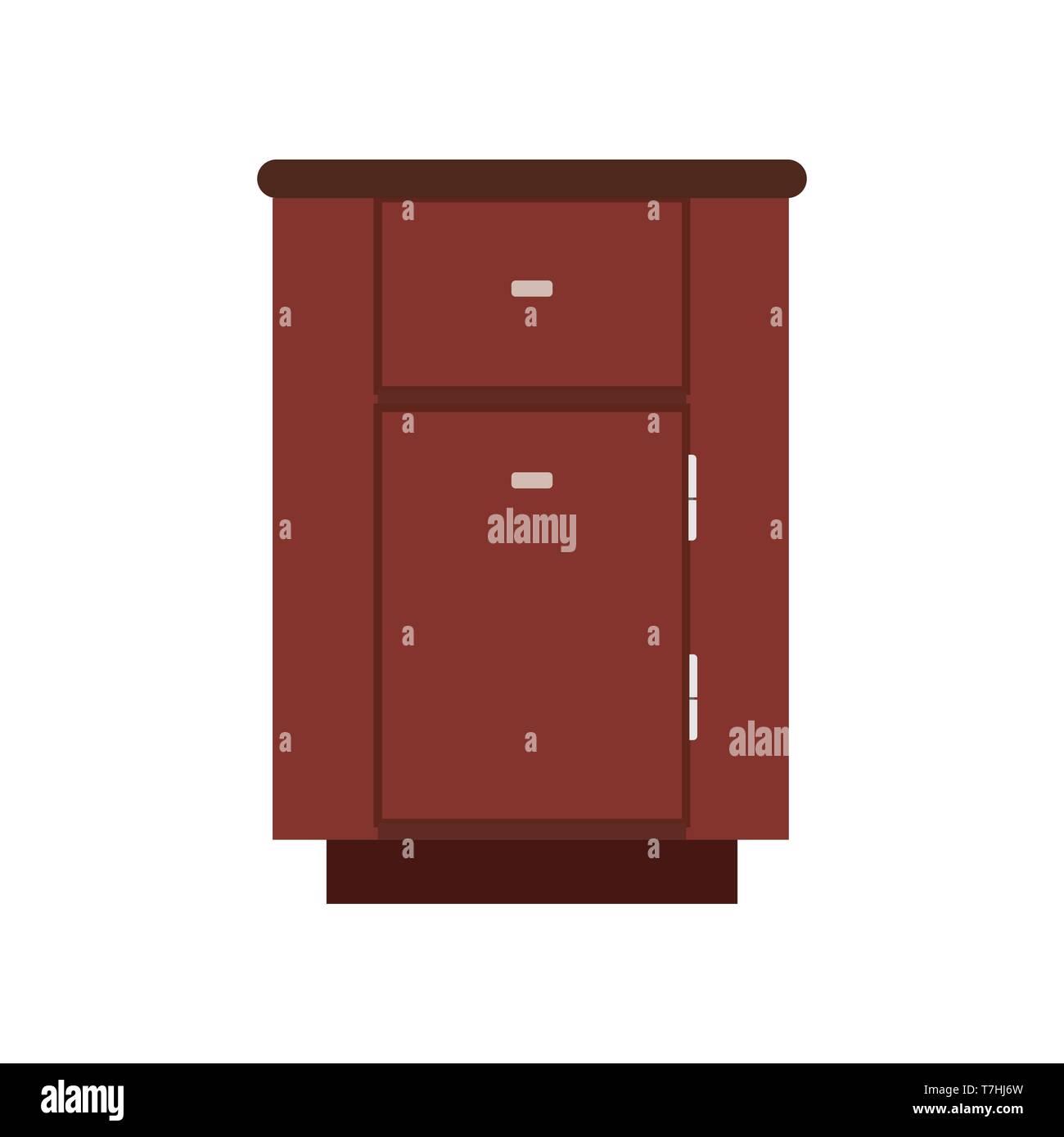 Cabinet Apartment Equipment Isolated Box Interior Simple