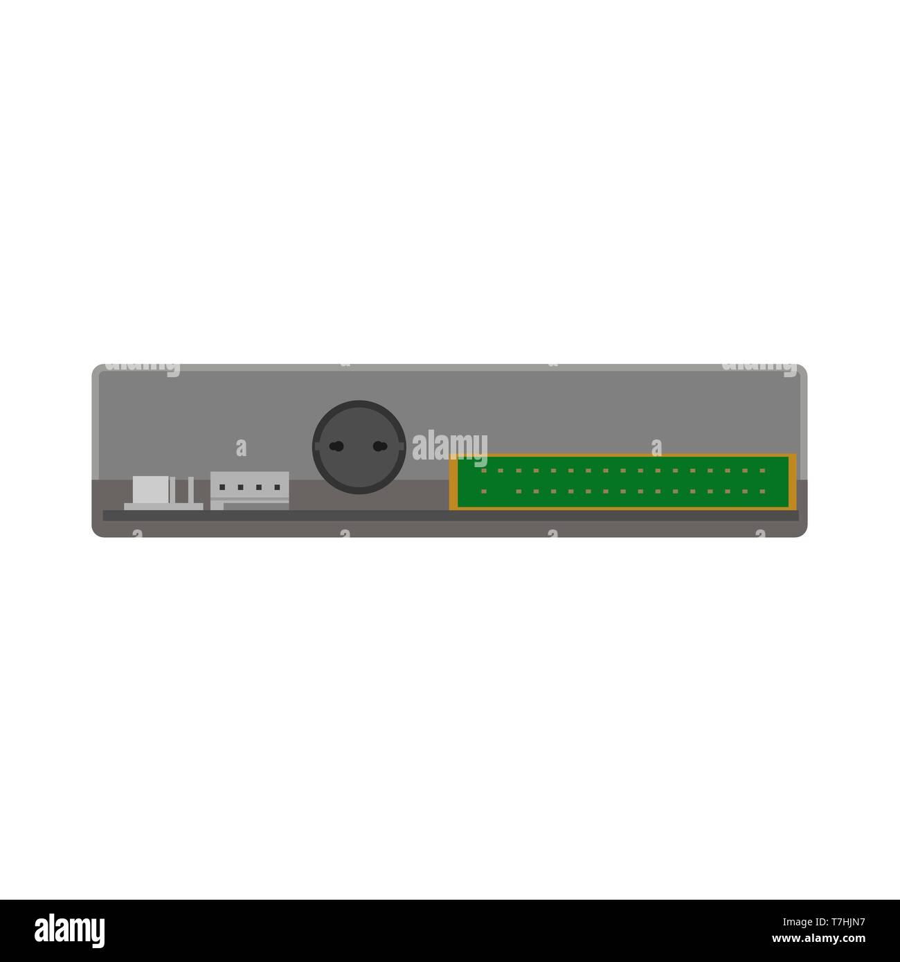 Floppy unit drive disk data vector icon flat  Retro computer