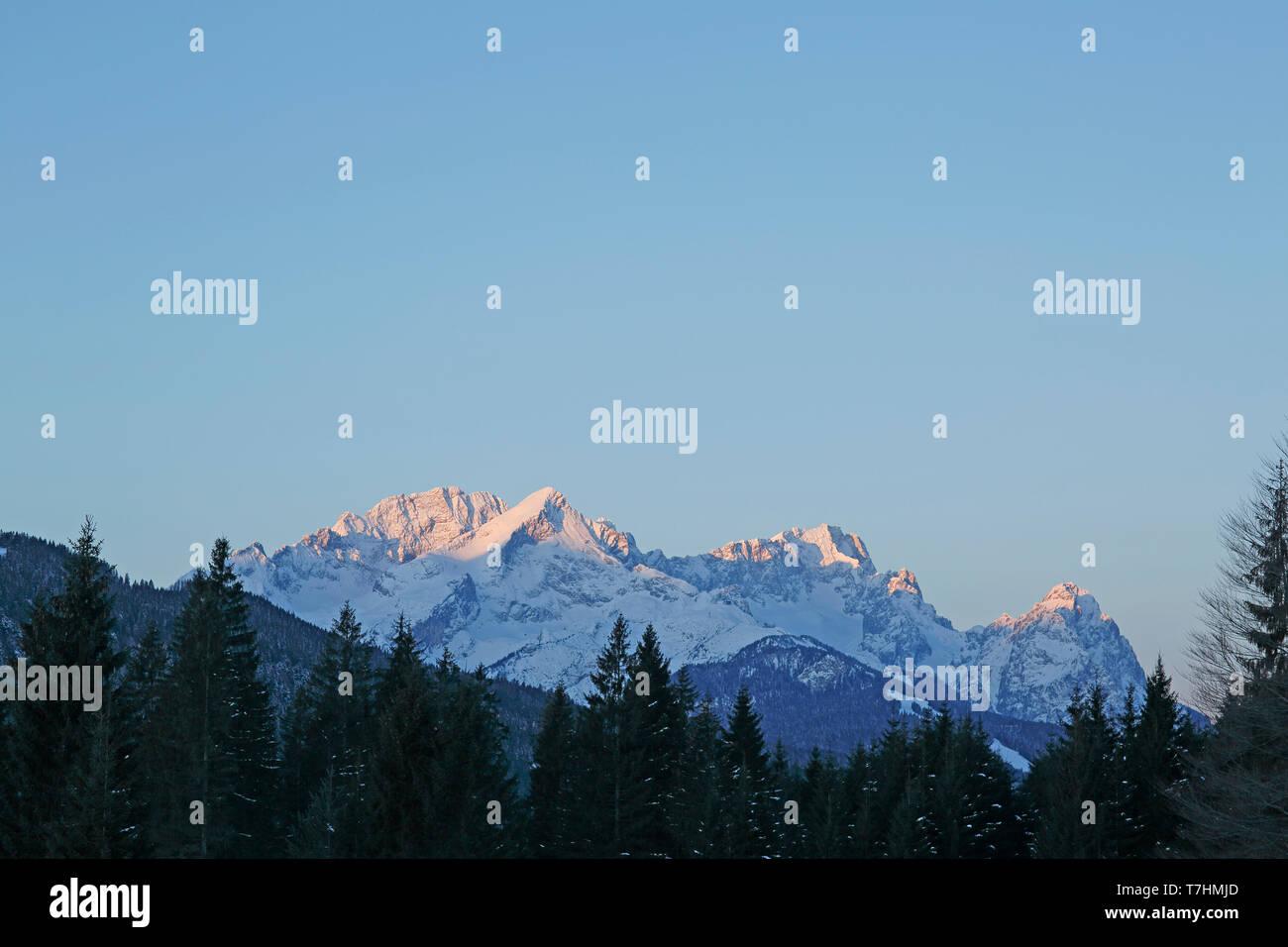 Zugspitz group - Stock Image