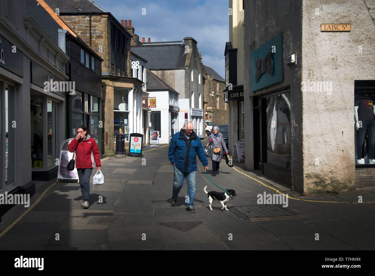 Evening on Laing Street, Kirkwall, Orkney Islands - Stock Image