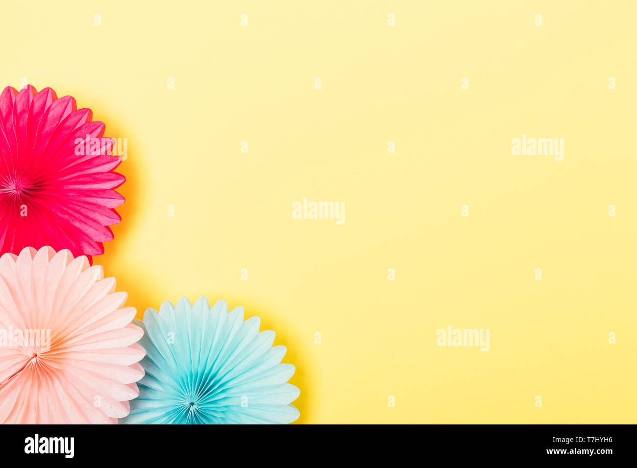 Party Background Of Tissue Paper Decorations Of Pink And