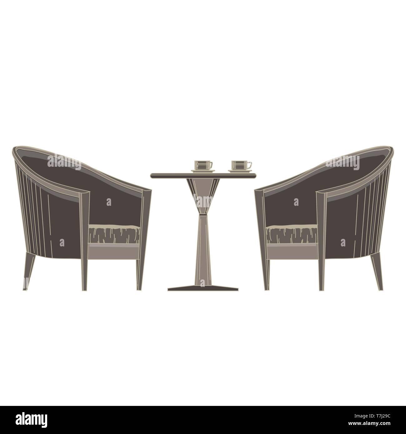 Vector Restaurant Table With Chair Flat Icon Isolated Romantic Banquet Illustration Banquet Black Cafe Cartoon Celebration Decor Decoration Elegan Stock Vector Image Art Alamy