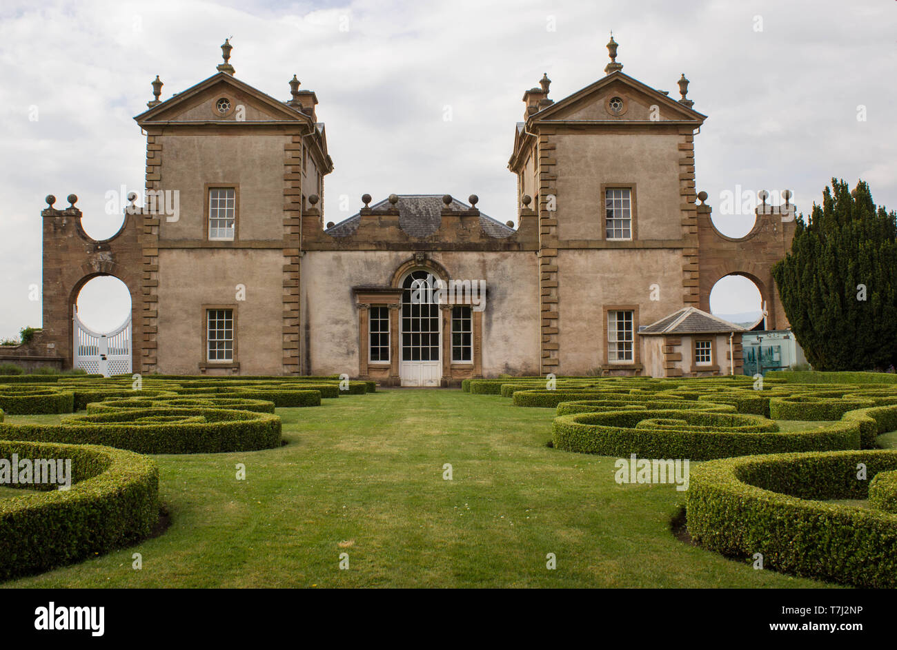 18th Century Hunting Lodge Chatelherault Located in Chatelherault Country Park - Stock Image