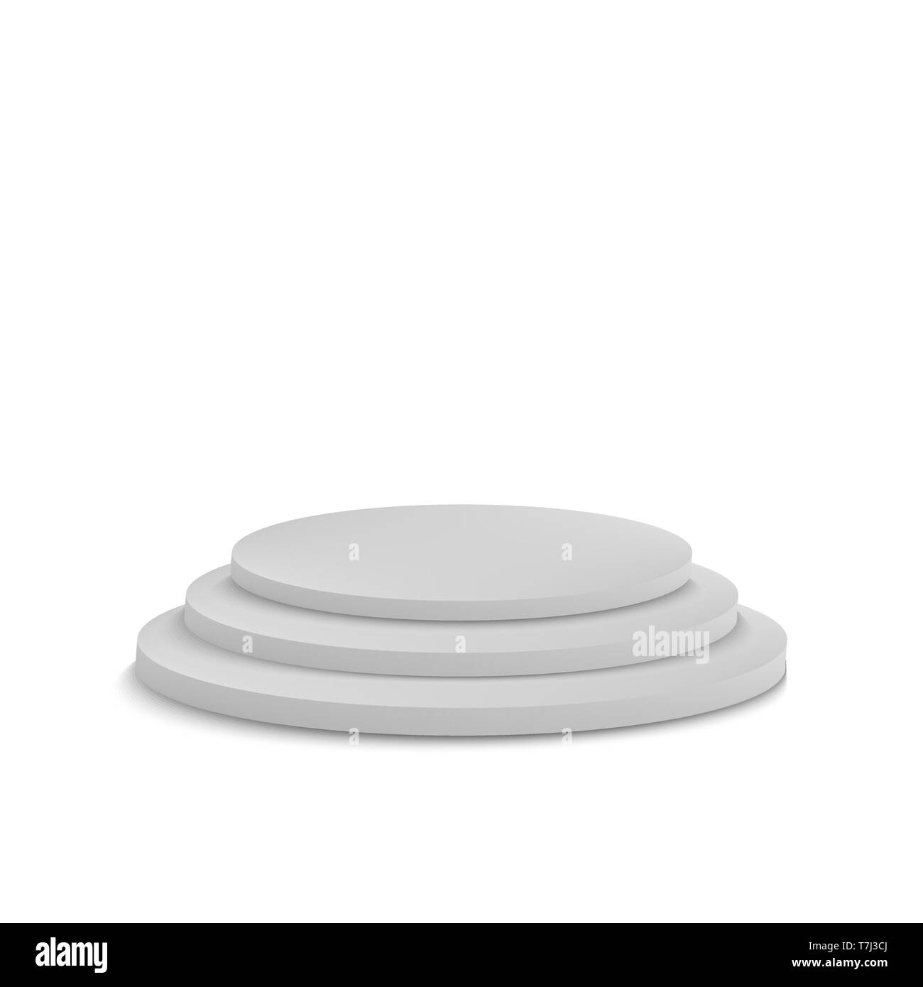 Podium round stage realistic vector template circle 3d empty illustration pedestal Stock Vector