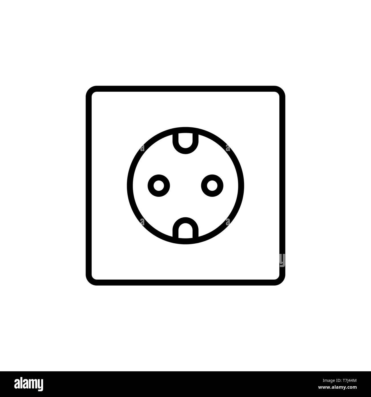 Socket line icon isolated on white background. Outline thin ... on outlet switch, electrical stimulator, exterior electrical wiring, bad electrical wiring, electrical muscle stimulator, electrical panel wiring, electrical estimating, electrical motor, electrical wiring in north america, electrical plug, electrical work, open neutral in electrical wiring, electrical install, residential electrical wiring, replacing electrical outlets, electrical receptacles, scary electrical wiring, new electrical wiring, electrical switches wiring, electrical retail, electrical lighting wiring, electrical generator, electrical tests, electrical standards, electrical store, installing a new electrical outlet, electrical troubleshooting, british electrical wiring, circuit breaker wiring, electrical wall outlets, electrical wiring installation, basic electrical wiring, electrical wiring diagram, electrical switch wiring, electrical safety, roughing in electrical wiring, electrical socket, home wiring, electrical suppliers,
