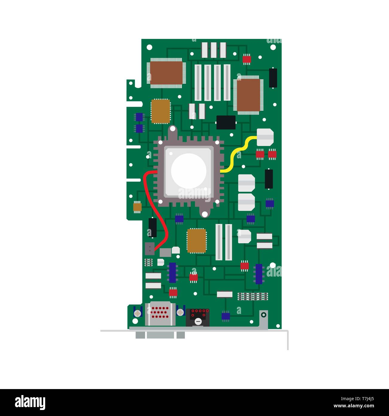 cpu vector vectors high resolution stock photography and images alamy https www alamy com omputer board technology circuit vector flat icon cpu card part hardware image245646525 html