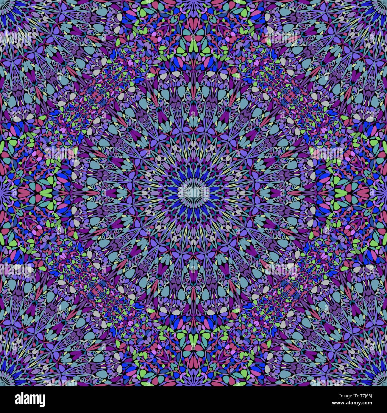 Seamless geometrical oriental mandala flower ornament pattern background - Stock Vector