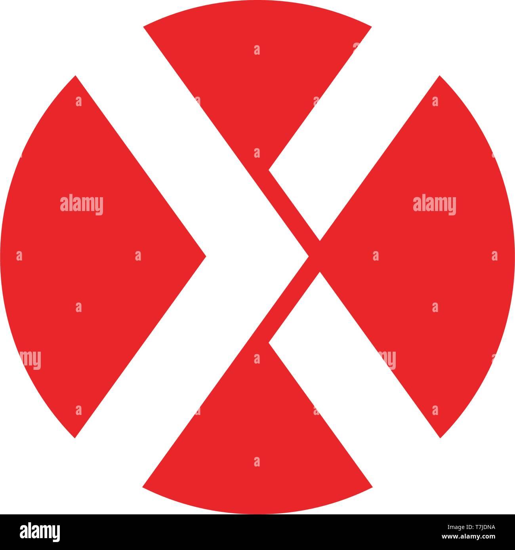 X Letter Logo Template vector icon design , Stock Vector