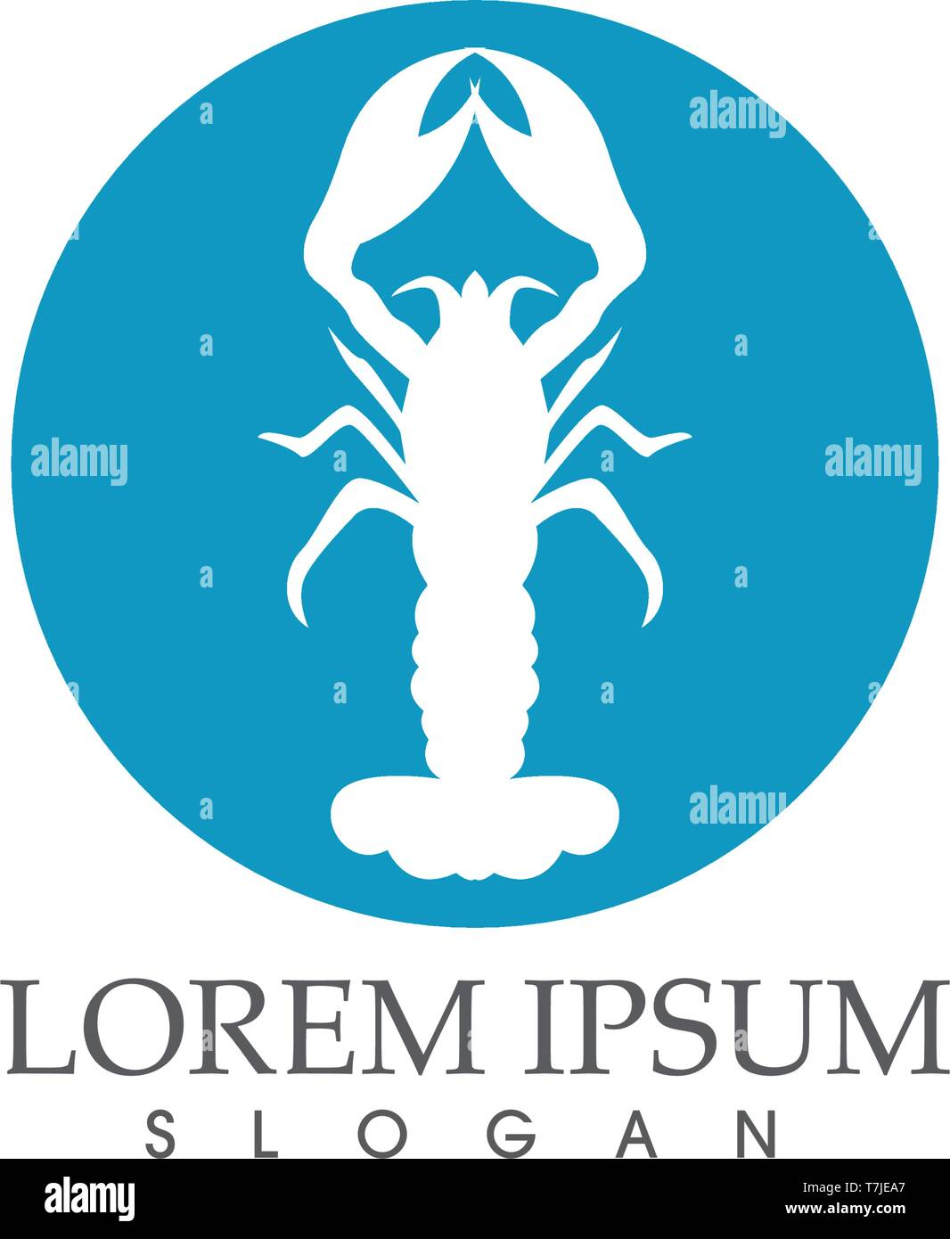 Icon crayfish. Lobster - Stock Vector