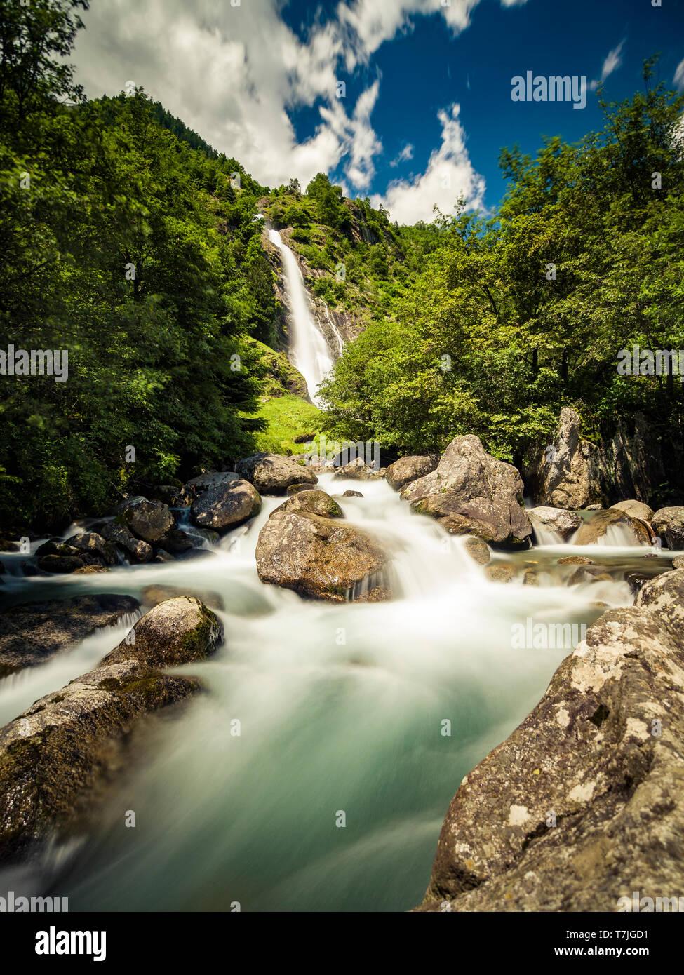 Südtirol - Partschinser Wasserfall Stock Photo