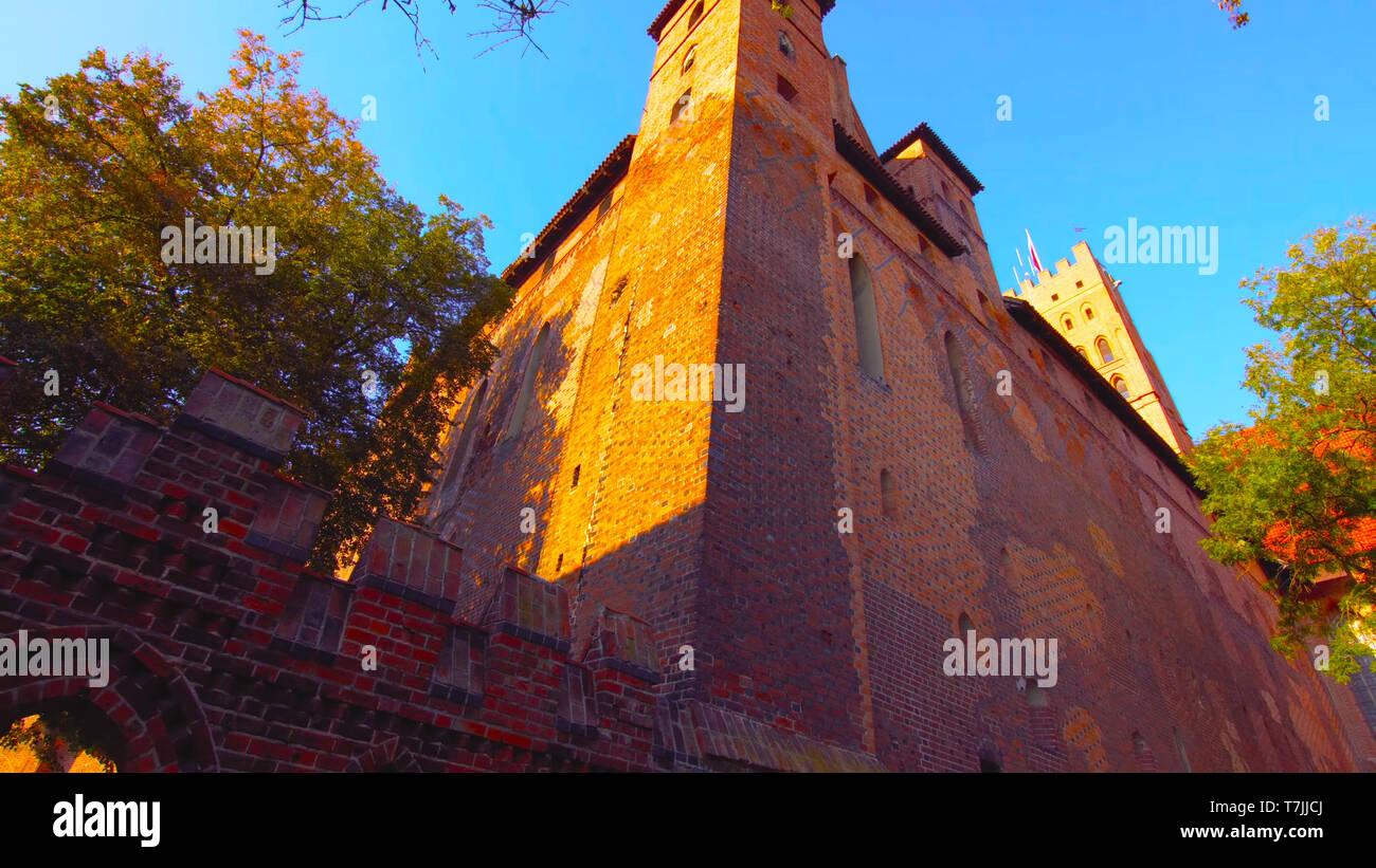 Castle castle in Poland, Old castle 2019 Stock Photo