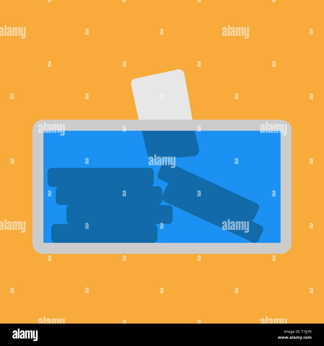 Voting urn election vector icon choice. Democracy ballot box candidate president political. Secret card referendum bulletin - Stock Vector
